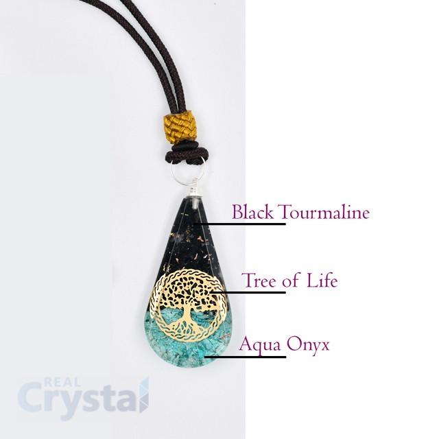 Black Tourmaline Orgonite Necklace