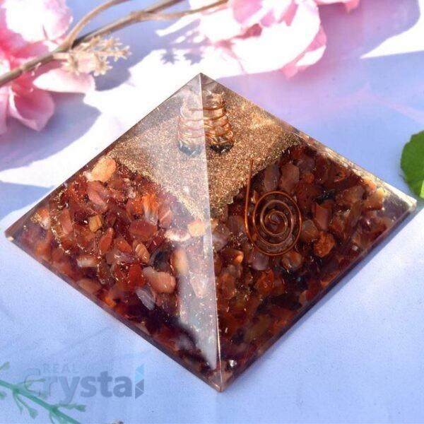 Red Carnelian Orgone Pyramid Emf Protection (7)
