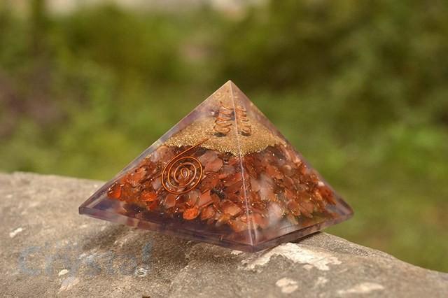 Red Carnelian Orgone Pyramid Emf Protection (8)