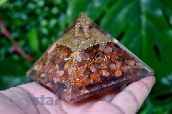 Red Carnelian Orgone Pyramid Emf Protection (9)