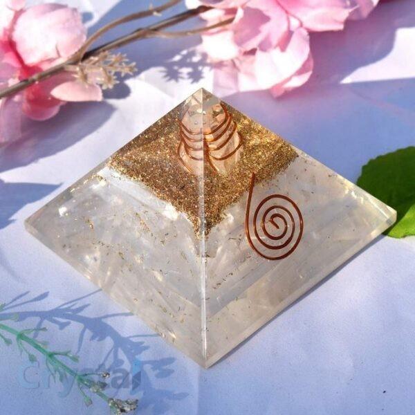 Selenite Orgonite Pyramid (8)