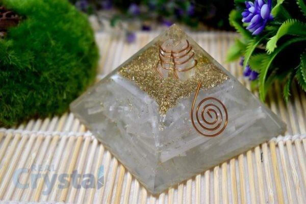 Selenite Orgonite Pyramid (6)
