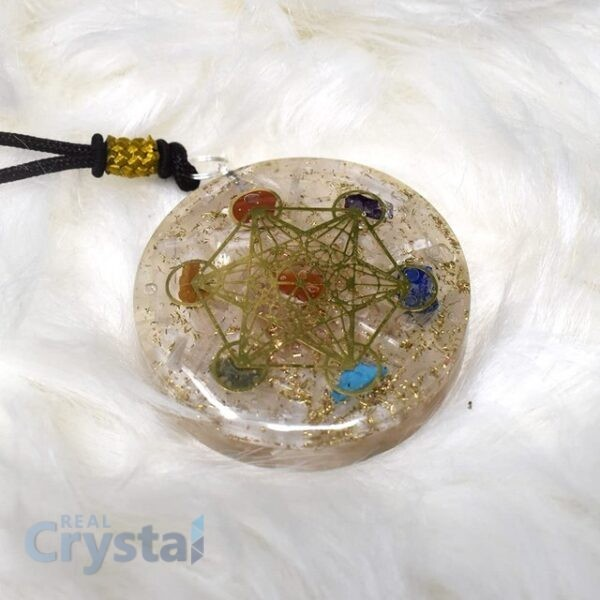 Selenite orgone orgonite pendant necklace